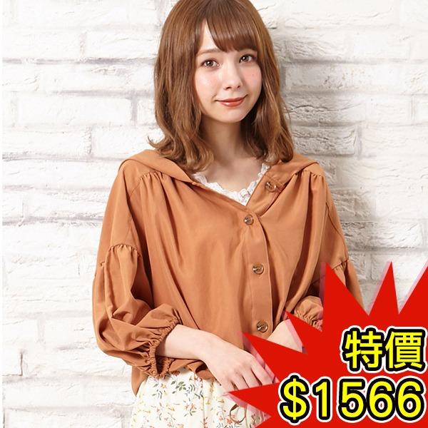 日本代購-INGNI連帽落肩泡泡袖抽繩外套(共二色) 日本空運,東區時尚,連帽