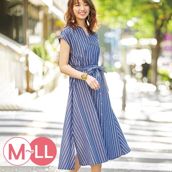 日本代購-連肩袖鬆緊腰身襯衫洋裝(共三色/M-LL) 日本代購,連肩袖,襯衫