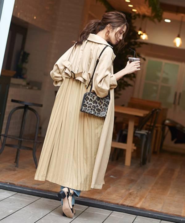 日本代購-特價titivate後打摺帶釦風衣(售價已折) 日本代購,portcros,長版衫