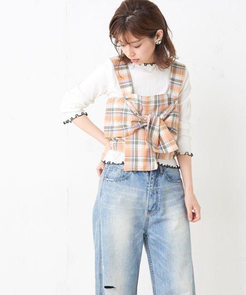 日本代購-natural couture柔和的七分袖T恤 日本代購,natural couture,上衣
