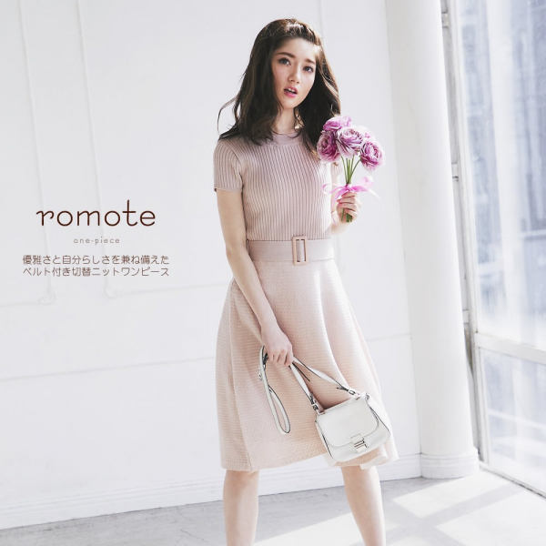日本代購-tocco腰帶針織洋裝 日本代購,,tocco腰帶,針織,洋裝