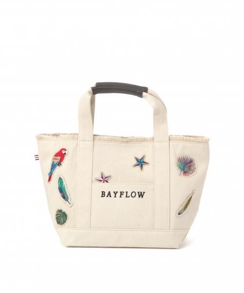 日本代購-BAYFLOW熱帶風情刺繡帆布包包M號(售價已折) 日本代購,BAYFLOW,包包