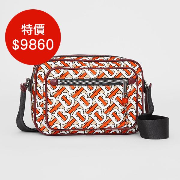 日本代購-BURBERRY 印花尼龍皮革斜背包 agnes b.,東區時尚,斜背包