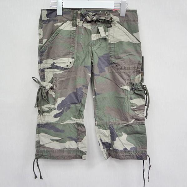 現貨-日本CIELO Hollister 迷彩口袋五分褲-軍綠色/S 日本代購,現貨,長褲
