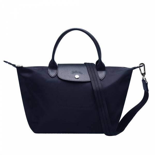 日本代購-特價現貨Longchamp Le Pliage Neo 厚尼龍短把水餃兩用包黑色(售價已折) agnes b.,東區時尚,手提包