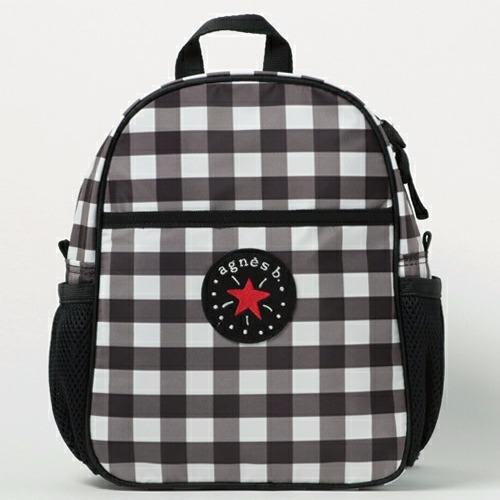 日本限定agnes b.色織格紋後背包 agnes b.,日本空運,東區時尚,