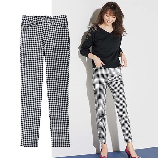 日本代購-特價彈性美腿窄管長褲(共六色/S-3L)(售價已折) 日本代購,長褲