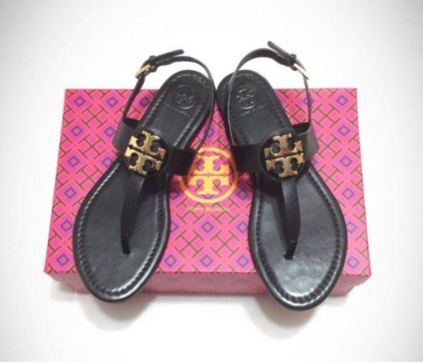 日本代購-特價TORY BURCH 真皮經典logo人字夾腳涼鞋(售價已折) 日本代購,TORY BURCH,夾腳,涼鞋