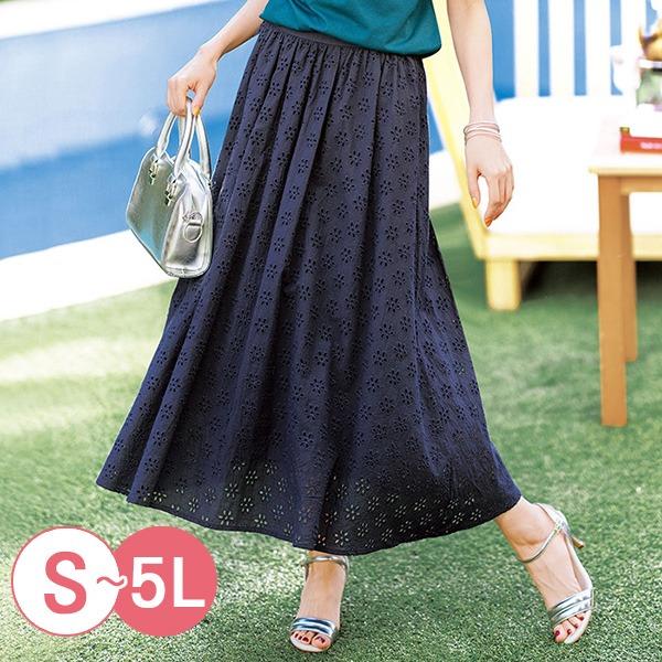 日本代購-portcros小花刺繡氣質長裙S-LL(共三色) 日本代購,portcros,刺繡