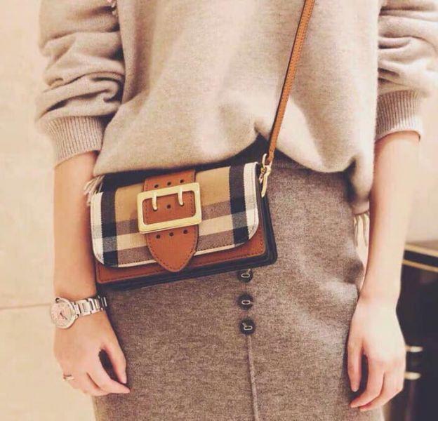 日本代購-Burberry 優雅時尚3way格紋手拿包肩背包 agnes b.,格紋