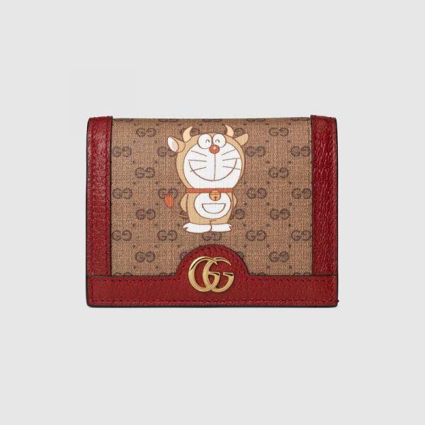 Gucci x 哆啦A夢金牛角對折卡夾 GUCCI 卡夾