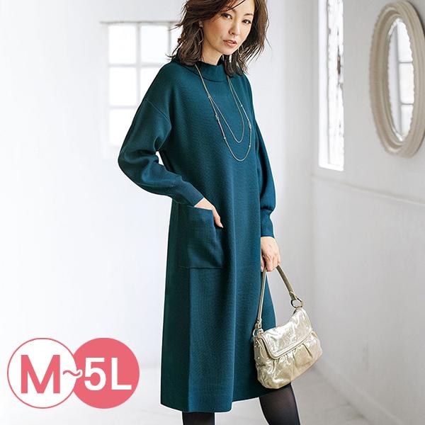 日本代購-portcros羅紋高領口袋洋裝長版上衣(共四色/M-LL) 日本代購,portcros,高領