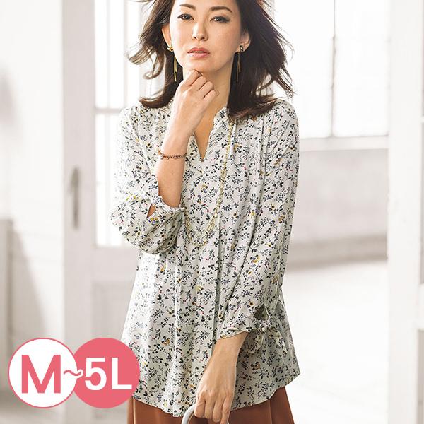 日本代購-portcros袖口綁結高雅印花罩衫M-LL(共四色) 日本代購,portcros,印花