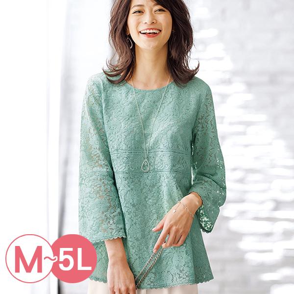 日本代購-portcros華麗全蕾絲八分袖上衣(共四色/M-LL) 日本代購,portcros,蕾絲