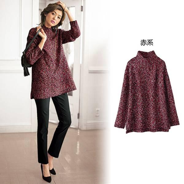 日本代購-特價portcros立領美麗諾混訪毛衣3L-5L(售價已折) 日本代購,portcros,毛衣