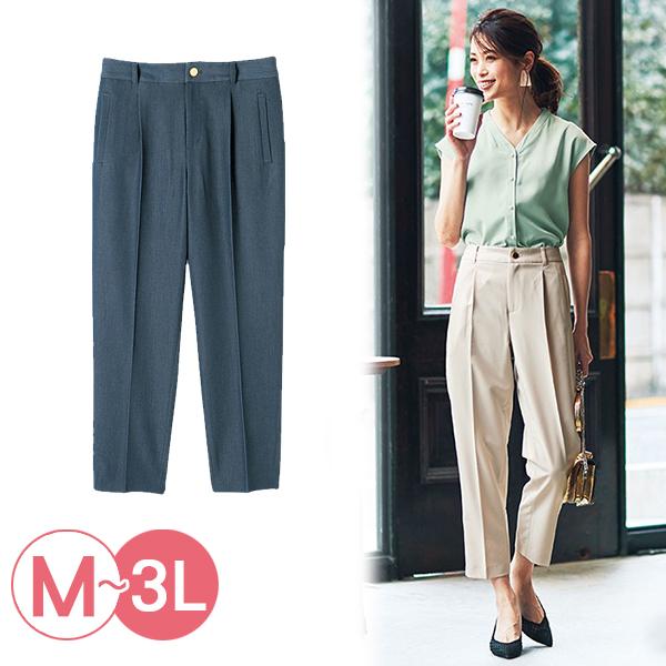 日本代購-中線設計後腰鬆緊錐形褲(共二色/3L) 日本代購,錐形褲