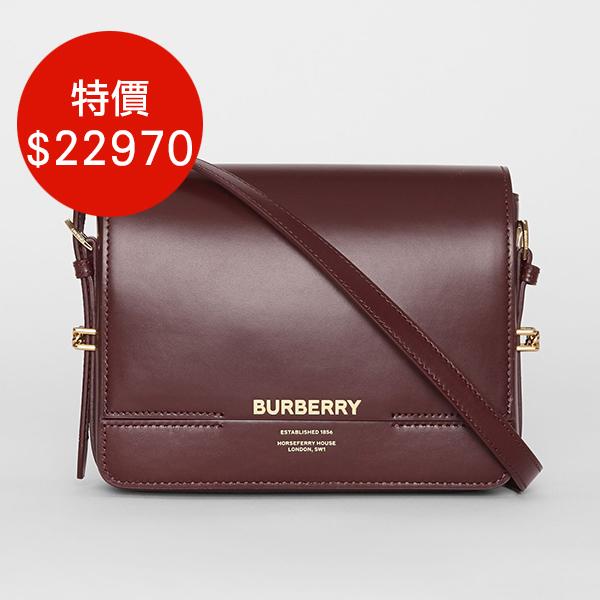 日本代購-BURBERRY 小型皮革 2way GRACE包(共三色) agnes b.,東區時尚,GRACE包