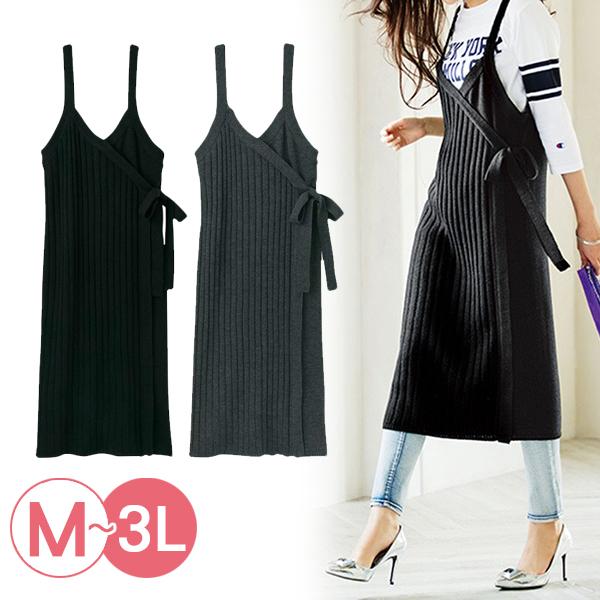 日本代購-portcros羅紋針織綁結背心裙(共二色/M-LL) 日本代購,portcros,背心裙