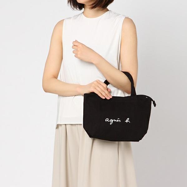 日本代購-agnes b. 燙印logo簡約設計帆布袋-小 agnes b.,東區時尚,帆布