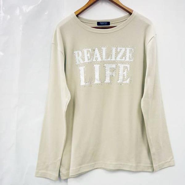 現貨-日本代購 REALIZE LIFE 小鑽點綴長袖上衣(共二色/M) 日本代購,現貨,水鑽
