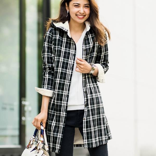 日本代購-特價portcros襯衫式毛裡連帽2way外套S-3L(售價已折) 日本代購,portcros,大衣外套