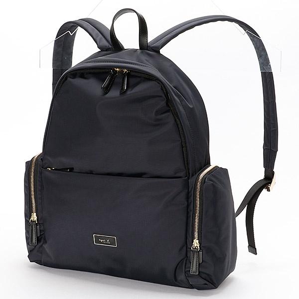 日本代購-特價agnes b.經典金色拉鍊後背包(售價已折) agnes b.,東區時尚,後背包