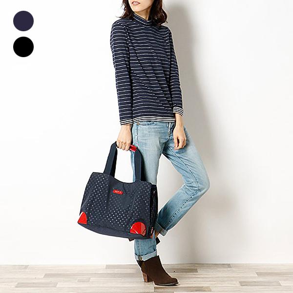日本代購-agnes b. Voyage 2way圓點大開口提包-中 agnes b.,東區時尚,手提包