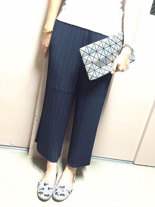 日本代購-特價日本百摺氣質九分寬褲(售價已折) 日本代購,portcros,寬褲