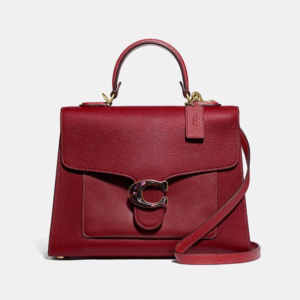 日本代購-COACH TABBY 優雅深紅2way皮革風琴包 agnes b.,東區時尚,風琴包