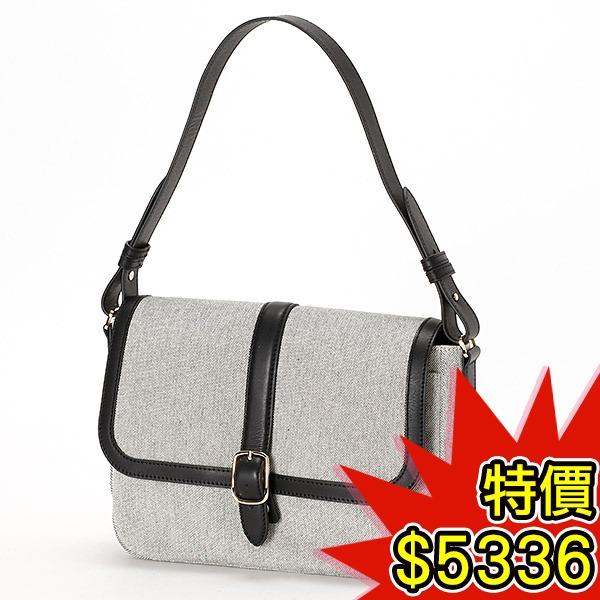 日本代購-agnes b.VOYAGE 高雅簡約皮革帆布手提包(共二色) agnes b.,東區時尚,手提包