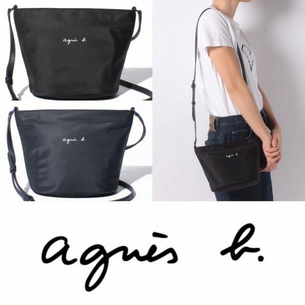 特價日本agnes b.尼龍肩背/斜背包(售價已折) agnes b.,雙層尼龍斜背包