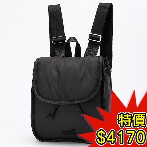 日本代購-agnes b.VOYAGE 皮革滾邊束口按扣後背包(共二色) agnes b.,東區時尚,後背包