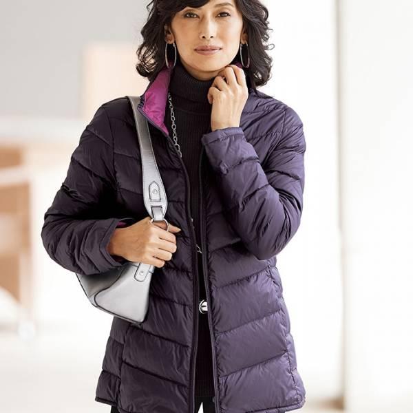 日本代購-portcros雙色羽絨外套附收納袋(M-LL) 日本代購,portcros,羽絨