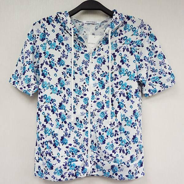 日本CIELO 現貨-藍色小花短袖外套-藍色/M 日本,CIELO,外套