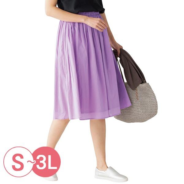 日本代購-cecile優雅棉質皺褶圓裙-65cm長S-LL(共六色) 日本代購,CECILE,短裙