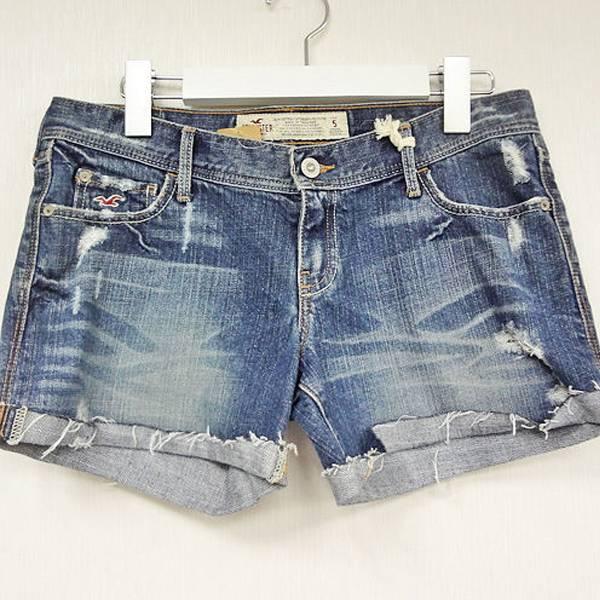 現貨-日本CIELO Hollister刷破不收邊反折低腰短褲-牛仔藍/30 日本代購,現貨,短褲