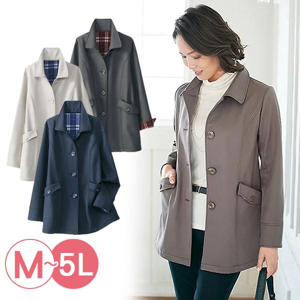 日本代購-絨面格紋襯裡保暖外套(共四色/M-LL) 日本代購,絨面,格紋