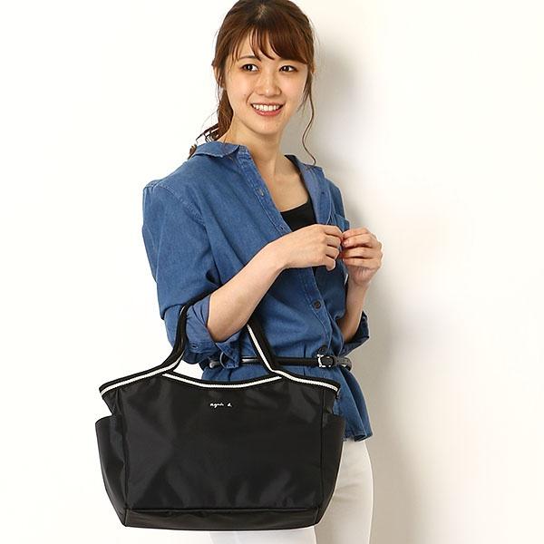 agnes b voyage日本限定防潑水尼龍手提水餃包(售價已折) agnes b.,日本空運,東區時尚