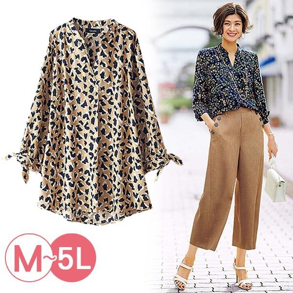 日本代購-portcros清爽滿版印花八分袖襯衫3L-5L(共四色) 日本代購,portcros,襯衫