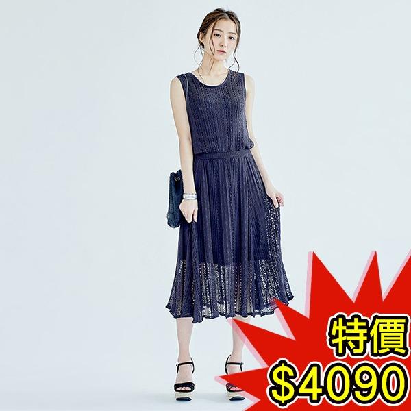 日本代購-COCO DEAL雅緻鬆緊腰鏤空針織背釦洋裝(共三色) 日本空運,東區時尚,針織