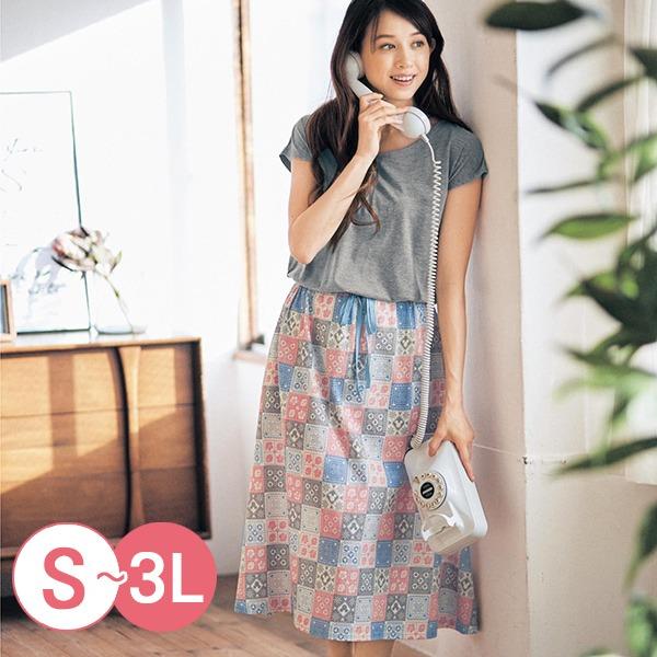 日本代購-迪士尼束腰抽繩異材質對接洋裝(共二色/S-LL) 日本空運,東區時尚,洋裝