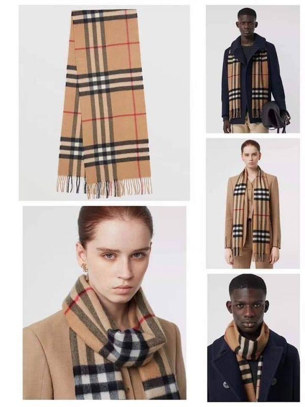 現貨特價BURBERRY經典的羊絨格紋圍巾(加厚版)(售價已折) 日本代購,BURBERRY,圍巾