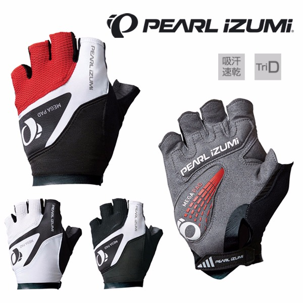 日本代購-PEARL iZUMi [34] 立體剪裁半指極厚軟墊自行車手套(共三色) 日本空運,東區時尚,手套