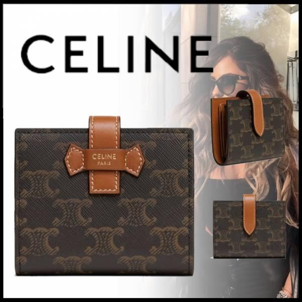 Celine TRIOMPHE帆布配羊皮短夾(售價已折) CelineTRIOMPHE帆布配羊皮短夾(售價已折)