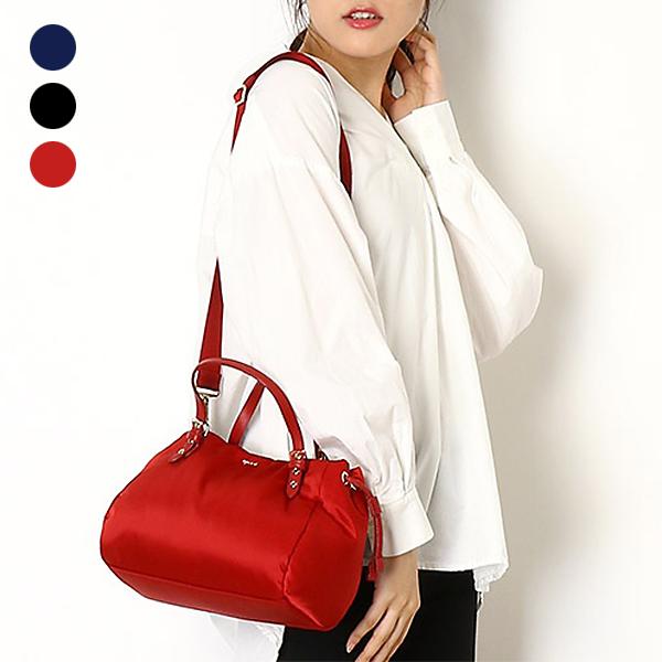 日本代購-agnes b. 抽繩設計2way手提袋斜背包-小 agnes b.,東區時尚,斜背包