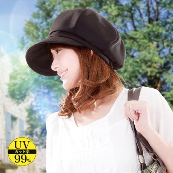 日本代購-透時尚便利防曬抗UV貝雷帽 日本空運,東區時尚,貝蕾帽