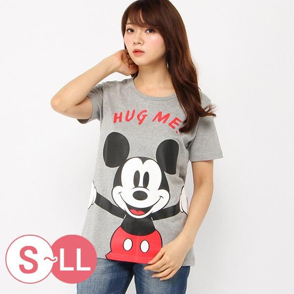 日本代購-迪士尼擁抱角色大印花T恤-米奇/S-LL 日本空運,東區時尚,T恤