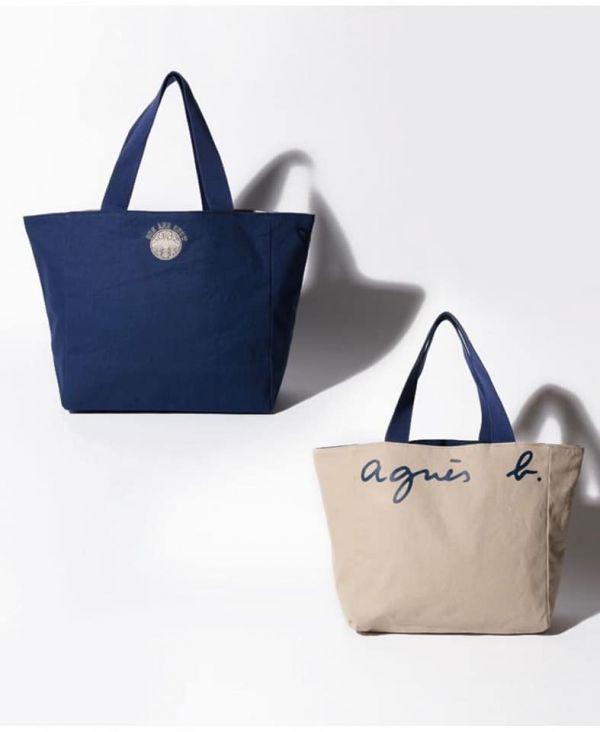 日本代購-熱銷 agnes b.双面帆布包(售價已折) agnes b.,日本代購,大容量肩背包
