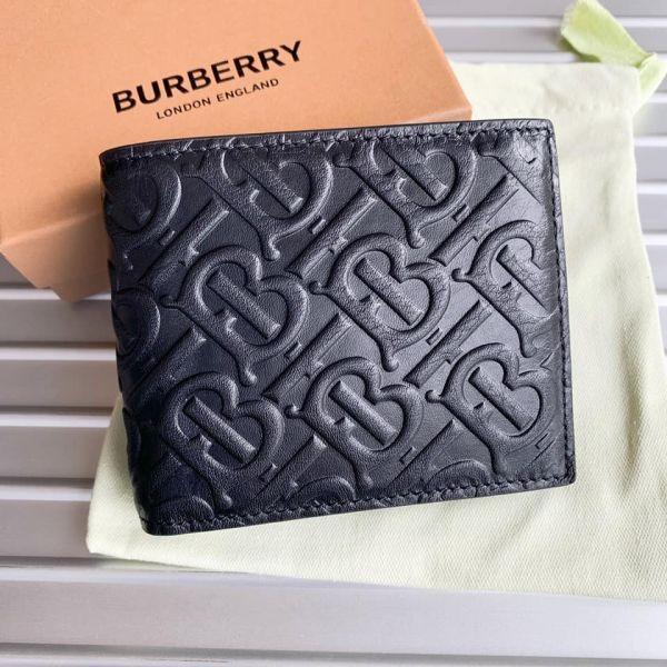 現貨特價BURBERRYBURBERRY TB LOGO二折牛皮短夾(附相片夾)(售價已折) 日本代購,BURBERRY,短夾