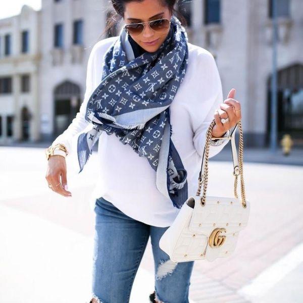 超值代購-法國Louis Vuitton 儉約俐落MONOGRAM DENIM 披肩圍巾(售價已折) Louis VuittonLV ,MONOGRAM DENIM ,披肩,圍巾